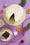 Κέικ διακοπών στοκ εικόνες
