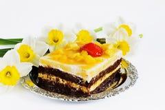 κέικ εορταστικό Στοκ Εικόνα