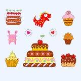 κέικ εύθυμα απεικόνιση αποθεμάτων
