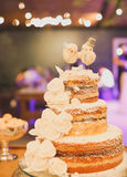 Κέικ ημέρας γάμου Στοκ Εικόνα