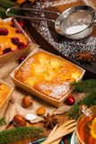 Κέικ διακοπών Χριστουγέννων Στοκ εικόνες με δικαίωμα ελεύθερης χρήσης