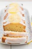 Κέικ λιβρών λεμονιών Στοκ Εικόνα