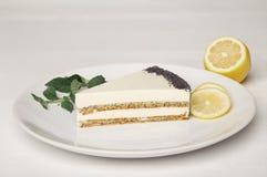 Κέικ ιδρώτα με το λεμόνι και τη μέντα Στοκ Εικόνα