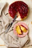 κέικ κάτω από την άνω πλευρά δ&a Στοκ Φωτογραφίες