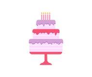 Κέικ καθορισμένα, γενέθλια και γάμος Στοκ Φωτογραφίες