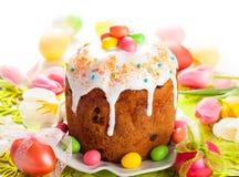 Κέικ και αυγά Πάσχας Στοκ Εικόνες