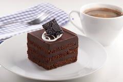 Κέικ και καφές σοκολάτας στοκ εικόνα