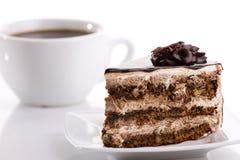 Κέικ και καφές Στοκ Φωτογραφίες