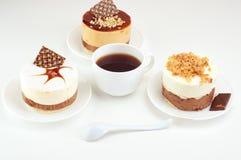 Κέικ και καφές, στοκ εικόνες