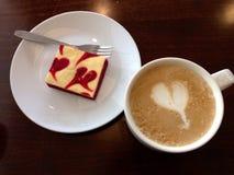 Κέικ και καφές Στοκ Εικόνα