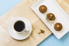 Κέικ και καφές Στοκ Φωτογραφία