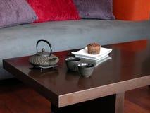 Κέικ και τσάι Στοκ Εικόνα