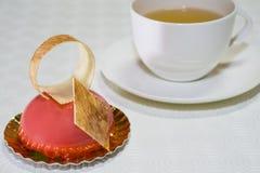 Κέικ και τσάι Στοκ Φωτογραφίες
