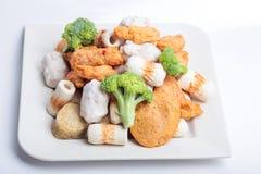 Κέικ και mochi κολλών ψαριών για την ιαπωνική εικόνα συστατικών τροφίμων Στοκ εικόνες με δικαίωμα ελεύθερης χρήσης