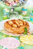 Κέικ καραμέλας με την μπανάνα Στοκ Εικόνες