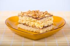 Κέικ καρυδιών Στοκ Εικόνα