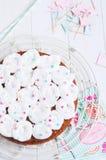 Κέικ καρότων εορτασμού Στοκ Εικόνες