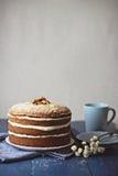 Κέικ καρότων ξύλων καρυδιάς Στοκ Εικόνα