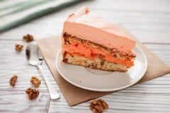 Κέικ καρότων sweety Στοκ Εικόνες