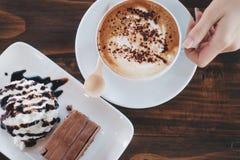 Κέικ & καφές στοκ εικόνες