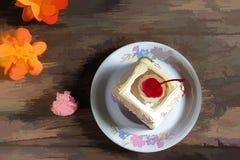 Κέικ κερασιών απεικόνισης Στοκ Εικόνες