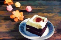 Κέικ κερασιών απεικόνισης Στοκ φωτογραφία με δικαίωμα ελεύθερης χρήσης