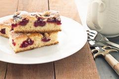 Κέικ κερασιών Στοκ εικόνες με δικαίωμα ελεύθερης χρήσης