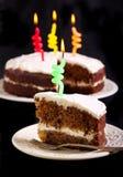 Κέικ κολιβρίων που διακοσμείται ως κέικ γενεθλίων Στοκ φωτογραφία με δικαίωμα ελεύθερης χρήσης