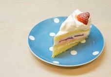 Κέικ κρέμας βανίλιας φραουλών Στοκ Εικόνα