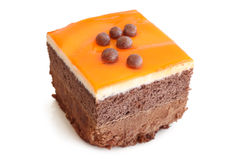 Κέικ κρέμας με τη ζελατίνα στοκ φωτογραφίες με δικαίωμα ελεύθερης χρήσης