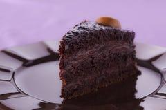 Κέικ κρέμας σοκολάτας Στοκ Φωτογραφίες