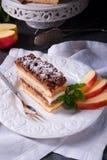 Κέικ κρέμας της Apple Στοκ Εικόνες