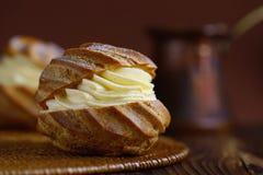 Κέικ κρέμας Choux Στοκ φωτογραφία με δικαίωμα ελεύθερης χρήσης