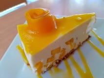 Κέικ μάγκο τυριών στοκ εικόνα