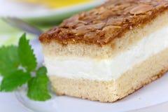 Κέικ μέλι-αμυγδάλων κρέμας JTasty Στοκ Εικόνες