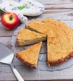 Κέικ μήλων Polenta Στοκ Εικόνες