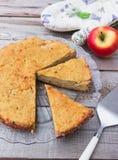 Κέικ μήλων Polenta Στοκ φωτογραφίες με δικαίωμα ελεύθερης χρήσης