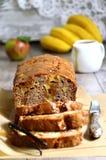 Κέικ μήλων και μπανανών Στοκ Εικόνα