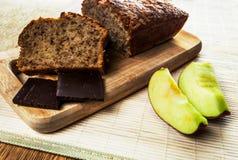 κέικ μήλων σπιτικό στοκ εικόνα