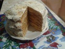 κέικ μελιού για το νέο έτος στοκ φωτογραφίες με δικαίωμα ελεύθερης χρήσης