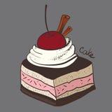 Κέικ, μερίδα, κομμάτι απεικόνιση αποθεμάτων