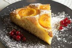 Κέικ μελιού με τα βερίκοκα, πίτα βερίκοκων στοκ εικόνα