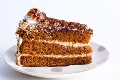 Κέικ μελιού με τα ξύλα καρυδιάς Στοκ φωτογραφίες με δικαίωμα ελεύθερης χρήσης