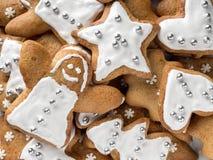 Κέικ μελοψωμάτων Χριστουγέννων στοκ φωτογραφία