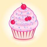 Κέικ με τα κεράσια Στοκ Εικόνα