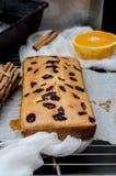 Κέικ με τα ξηρούς μούρα, την κανέλα και το ουρακοτάγκο Στοκ Εικόνα