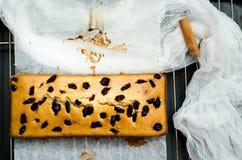 Κέικ με τα ξηρούς μούρα, την κανέλα και το ουρακοτάγκο Στοκ φωτογραφία με δικαίωμα ελεύθερης χρήσης