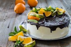 Κέικ με τα πορτοκάλια Στοκ Φωτογραφία