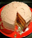 Κέικ με την ελλείπουσα φέτα Στοκ Εικόνες