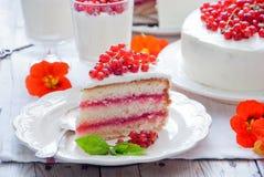 Κέικ με την κόκκινη σταφίδα Στοκ εικόνα με δικαίωμα ελεύθερης χρήσης